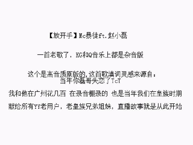 放开手赵小磊ft.Mc暴徒