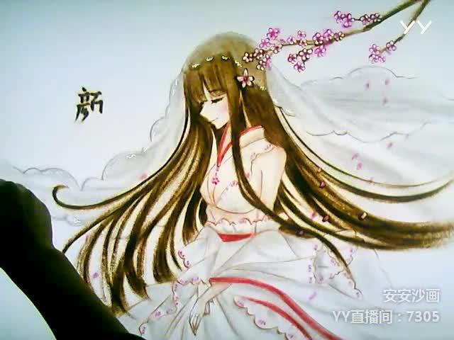 往事随风   花下怀念 -                     安安沙画                2017.10.17